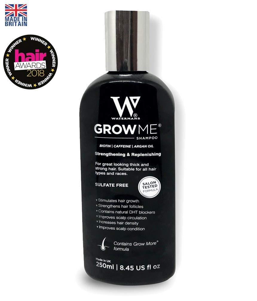 Best Hair Loss Shampoo, Caffeine, Biotin, Argan Oil, Allantoin, Rosemary. Stimulates Hair Growth, Helps Stop Hair Loss, Grow Hair Fast, Best Hair Growth Shampoo for Women and Men Watermans Growme