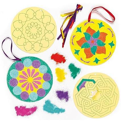 Amazon Com Baker Ross Rangoli Sand Art Decorations For Children S