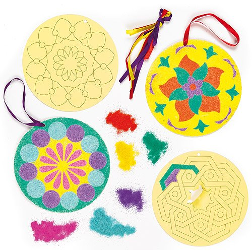 Rangoli sand art decorations for children 39 s sand crafts for Amazon arts and crafts for kids