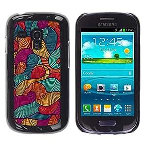 For Samsung Galaxy S3 III MINI (NOT REGULAR!) / I8190 / I8190N Case , Art Painting Surf Waves Summer Sun - Diseño Patrón Teléfono Caso Cubierta Case Bumper Duro Protección Case Cover Funda