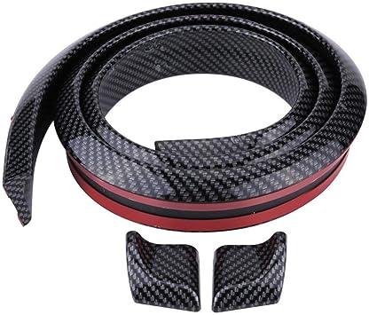 Car Rear Roof Trunk Spoiler Wing Lip Sticker 1.5M 3D Universal Carbon Fiber Type