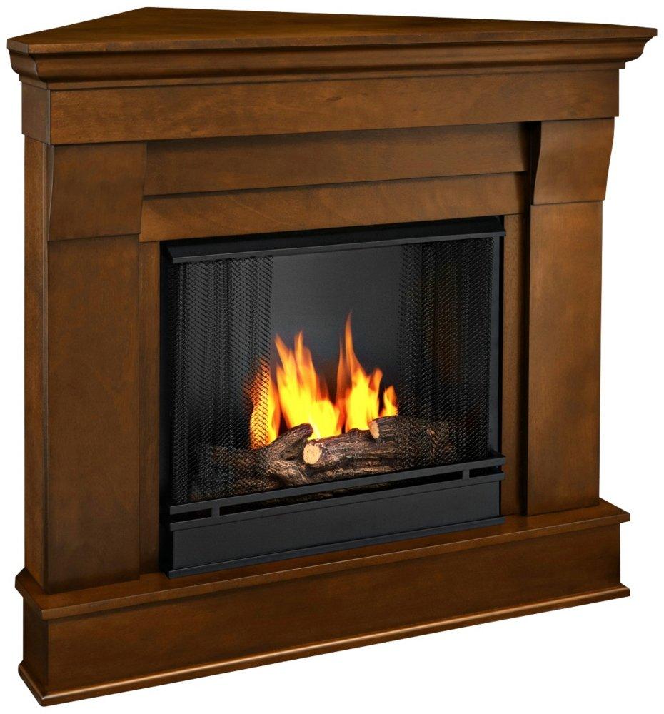 amazon com chateau corner gel fireplace in espresso home u0026 kitchen