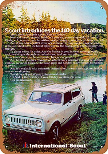 Wall-Color 9 x 12 METAL SIGN - 1973 International Scout - Vintage Look Reproduction