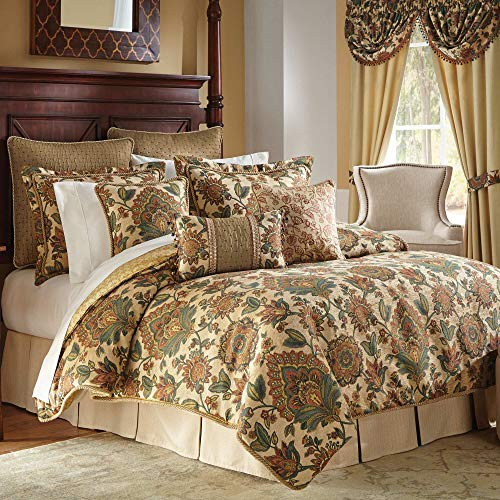 Croscill Home Minka Collection Queen Comforter, Shams & Bedskirt Set Floral