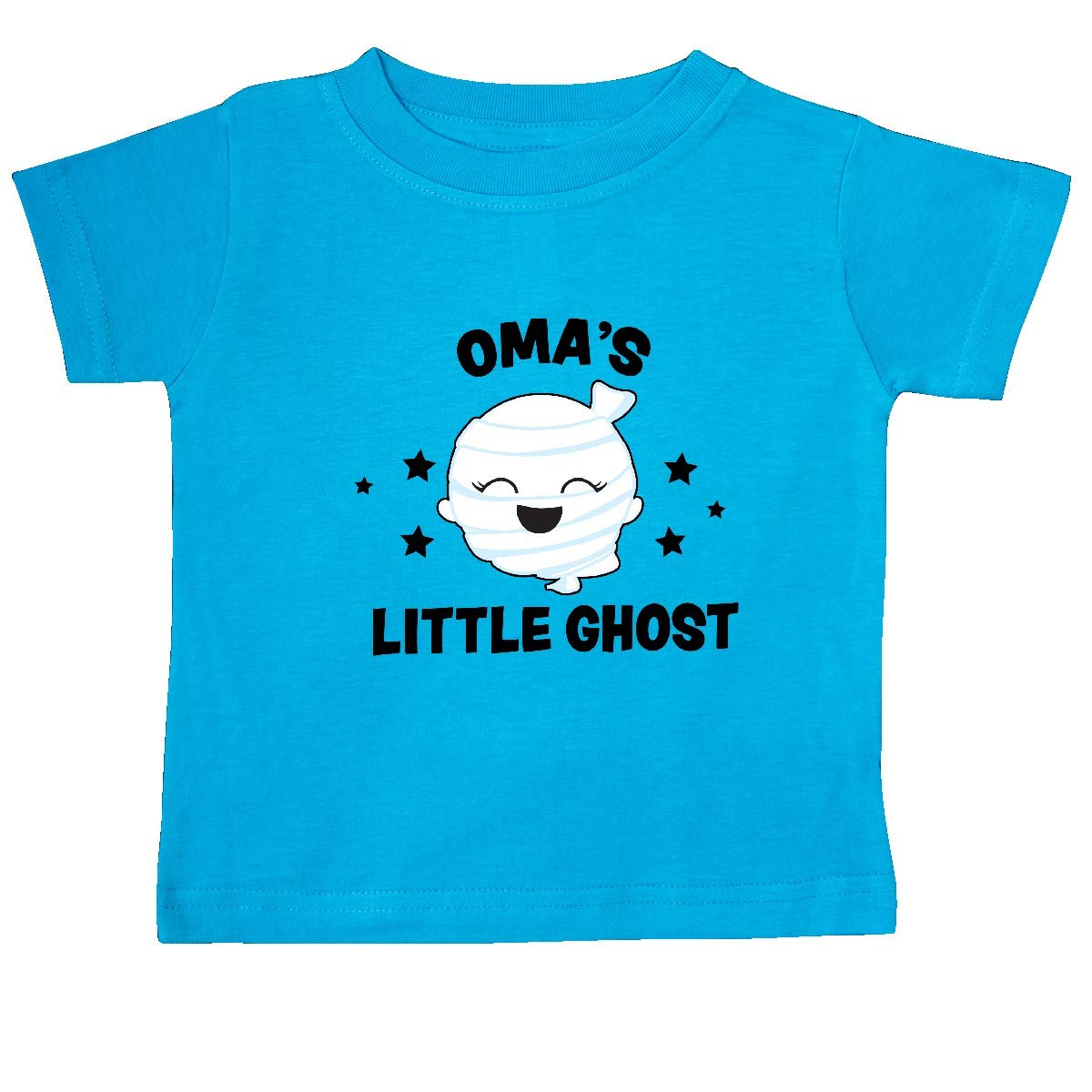 inktastic Cute Omas Little Ghost with Stars Baby T-Shirt