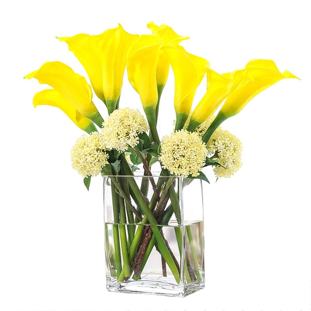シミュレーションオランダカイウユリアジサイ花瓶セット鉢植え用リビングルームレストラン寝室の装飾マルチカラーオプション (Color : B) B07SK9JS4N B