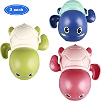 TOHIBEE Baby Toys Wind up Turtle Bathtub Toys Multi-Colors Swimming Bath tub Toy Pool Playset for Boys and Girls (Set of 3)
