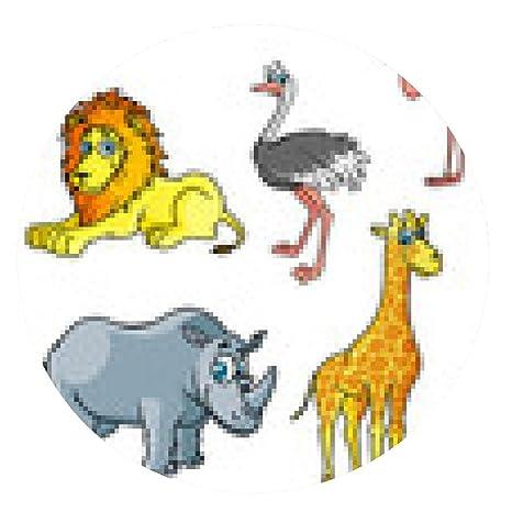 Alfombrilla De Ratón Animales Salvajes De Dibujos Animados Y