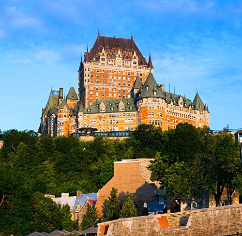 Posterazzi Poster Print Collection Facade of Chateau Frontenac in Lower Town City Quebec Canada Panoramic Images, (24 x 24), Multicolored ()