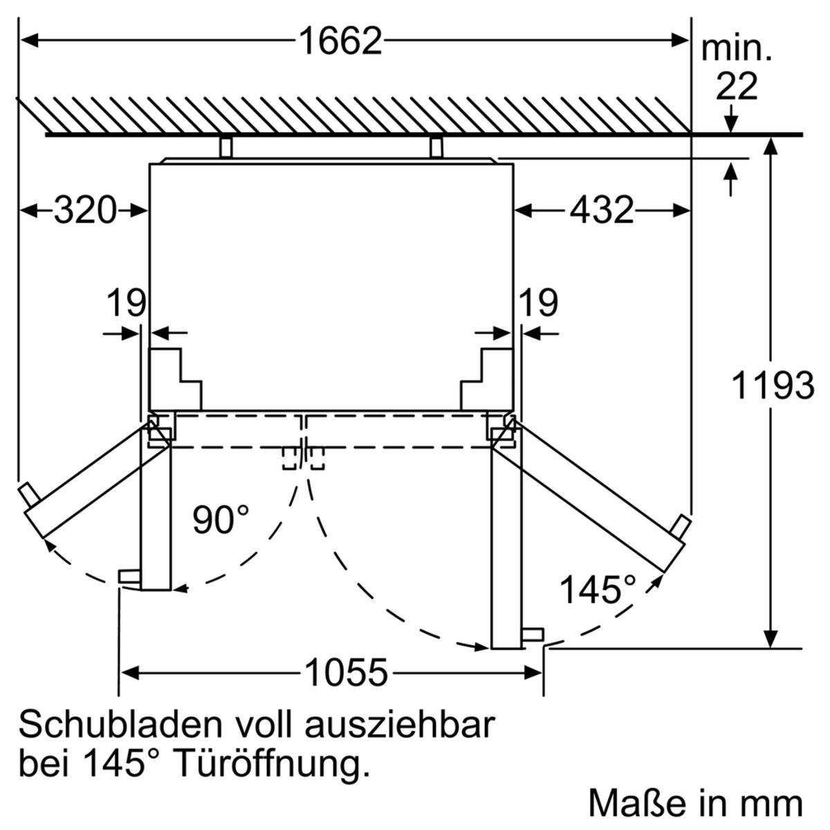 neff ksa788a1 side by side kühl gefrierkombination 177 cm a