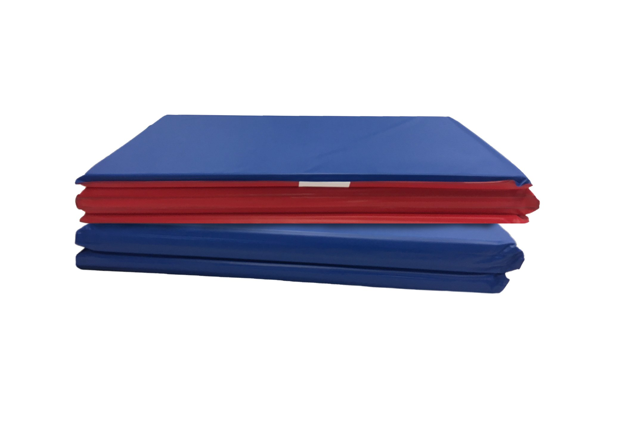 KinderMat, Basic Rest Mat, 5/8 Inch Thick, 45 x 19, Red/Blue, 2-Count