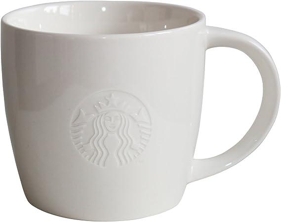 Starbucks Coffee Mug White Coffee Mug Collectors Classic White 20oz