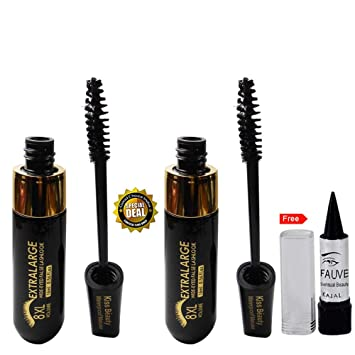 Amazon.com : Kiss Beauty Extralarge 8xl Volume Mascara Buy 1 ...