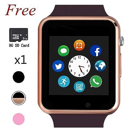 Amazon.com: Reloj inteligente Bluetooth, pantalla táctil ...