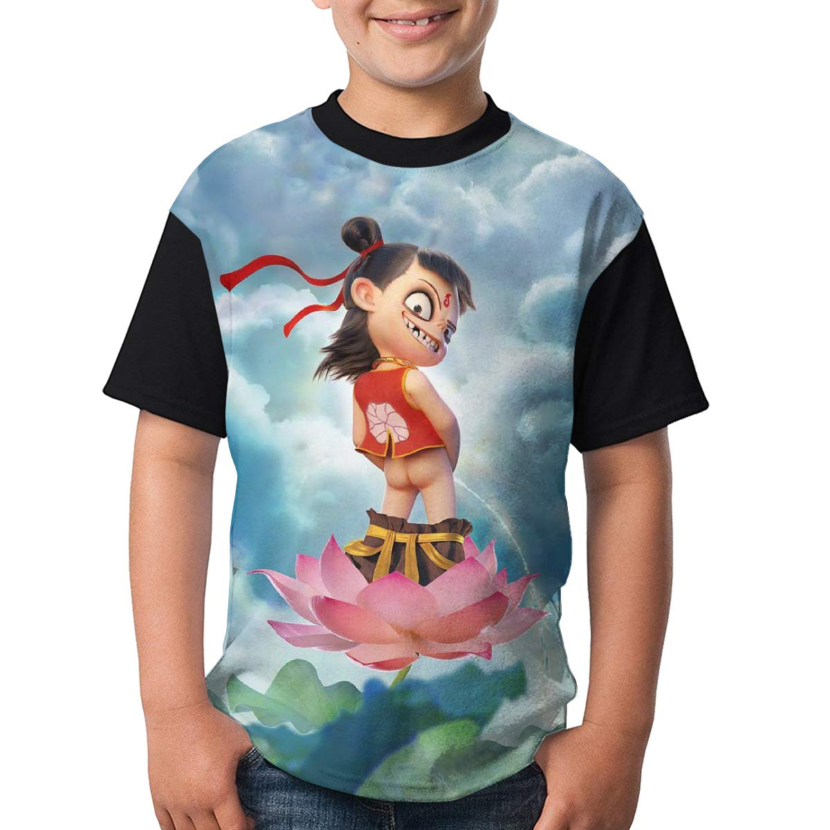 Nezha Shirt Boys Fashionable Design Breathable Custom for Teen