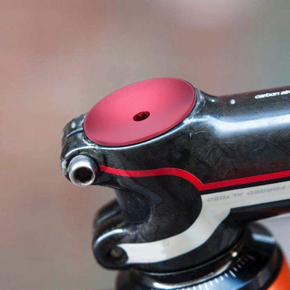 Tapa Pedalier de Bicicleta de Monta/ña Espaciador de V/ástago Tapa de Tubo de Horquilla de 28,6 mm Keenso Tapa Superior de Bicicleta