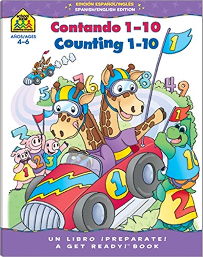 Bilingual Counting 1-10 Deluxe Edition Workbook (Spanish Edition)