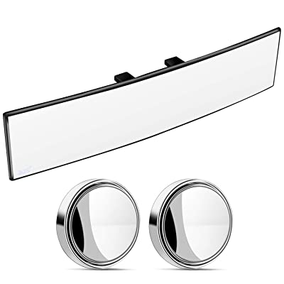 "Convex Wide Angle Rear View Mirror, Universal Interior Clip On Rearview Mirror, Wide Rearview Mirror for Car, SUV, Truck (30 cm x 8 cm, 11.8"" x 3.15\""): Automotive [5Bkhe0804513]"