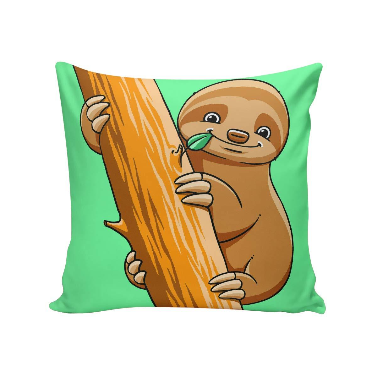 枕カバー コットンリネン 黄麻布 正方形 スロー枕カバー ソファ ベンチ カウチ カーシート ベッド枕プロテクター 枕カバー メリークリスマステーマ 18 x 18 Inch ^BZZXH-20181110#GBESLEX00904BZBBSOA 18 x 18 Inch Sloth9soa2632 B07KCYZ28T