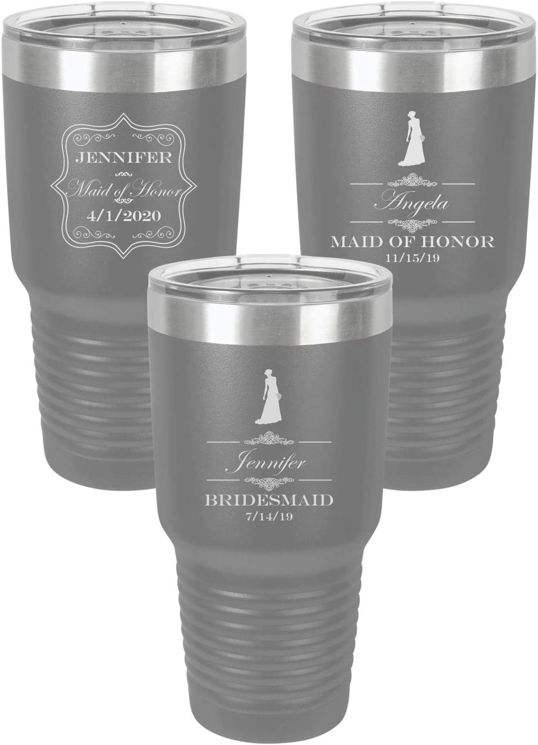 Bridesmaid Gift Stainless Tumbler Sets Bridal Party Gifts