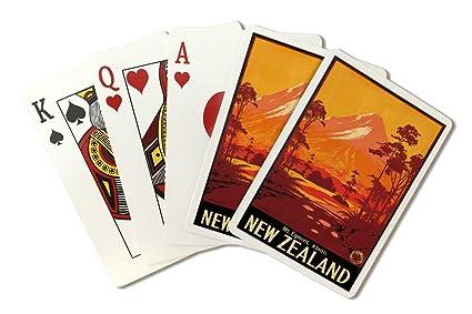 Amazon.com: Nueva Zelandia clásico Cartel (Artista: Mitchell ...
