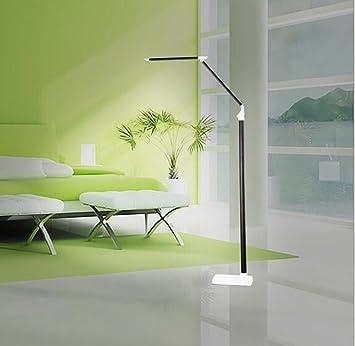 MULANG Lampe moderne de Sol À LED Dimmen Nuancen Salon Chambre Büro ...