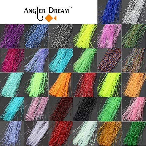 ANGLER DREAM AnglerDream Crystal Flash Fly Tying Material 150PCS per Bag 33 - Material Tying Fly Flash