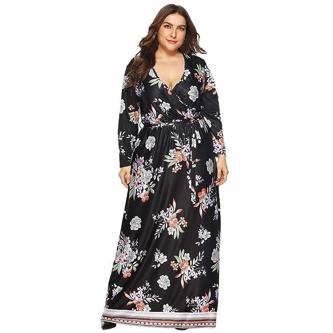 Amazon.com: Vestido para mujer de talla grande, elegante ...