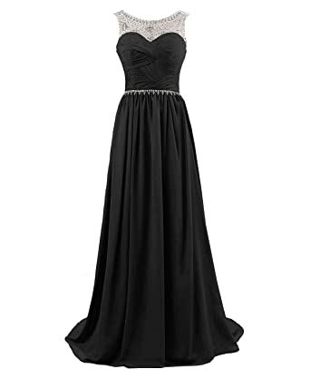 Kmformals Womens Long Prom Bridesmaid Dresses Formal Evening Dresses Size 6 Black