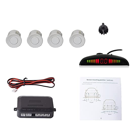 8 opinioni per Cocar Sensore di Parcheggio Kit Desplay LED Acustico Auto Reverse Backup di