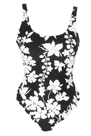 6bd81ea87edda MICHAEL Michael Kors Womens Floral Vine One-Piece Swimsuit w/High Leg  Ruffles & Removable Soft Cups at Amazon Women's Clothing store: