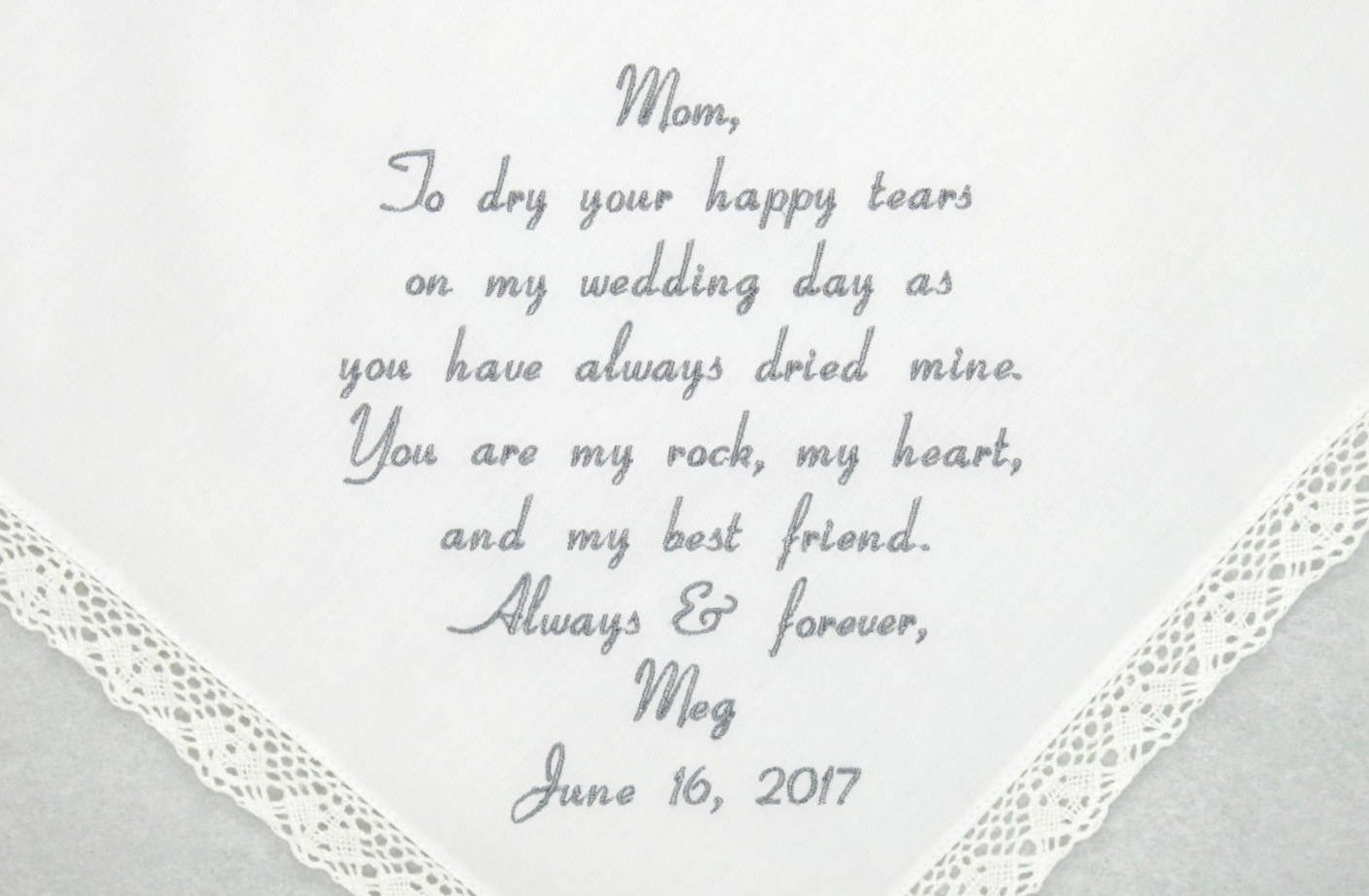 Wedding Day Letter To Bride.Mother Of The Bride Gift Wedding Hankerchief Embroidered Wedding Hankerchiefs Mother Of The Bride Handkerchief Personalized Handkerchief Mom
