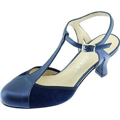 23fed1ea8e352e Angelina® GALANE Escarpins A Bride Salomé Talon Moyen Chaussures Femme  Dance De Salon Petites Pointures