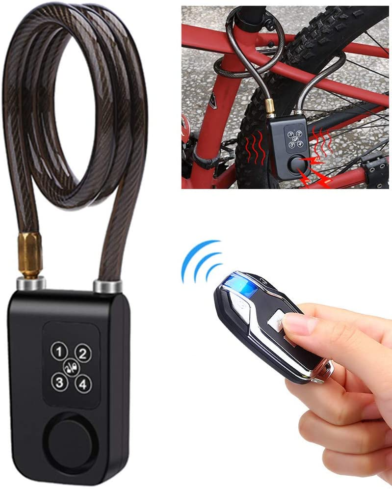Alarma de bloqueo de bicicleta con control remoto( 80cm )