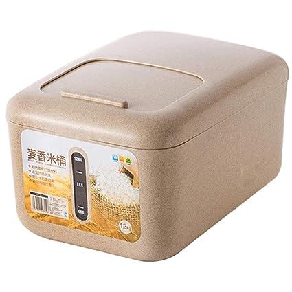 Dispensadores de cereales Caja de almacenamiento de arroz en cubo resistente a la humedad Cuchara de
