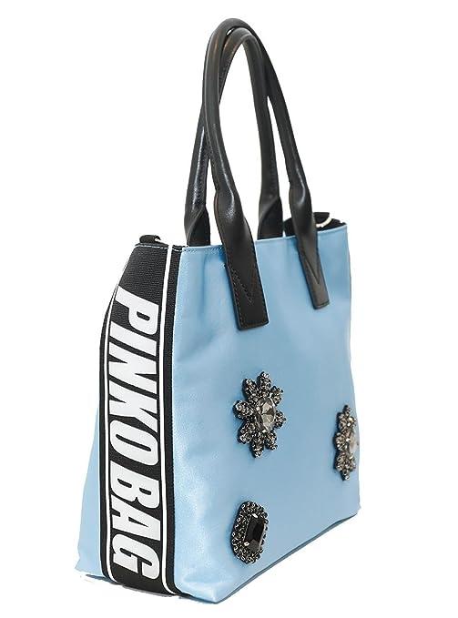PINKO SHOPPING CANESCA-1H20DN-Y4CG-E42-LIGHT BLUE  Amazon.it  Abbigliamento 8b70e54428f
