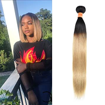 Amazon Com July Queen Malaysian Hair Ombre Blonde Hair