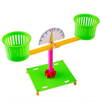 TOYANDONA Balance Scale Game Counting Toy Balance Educational Learning Tool Balance Measuring Gift for Kids (Green): Toys & Games