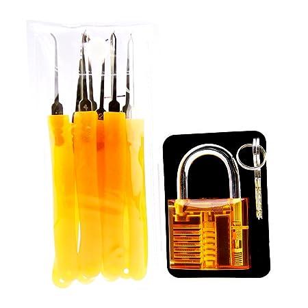 Suoyigou Orange Transparent Lock With 9 Pieces Orange Lock