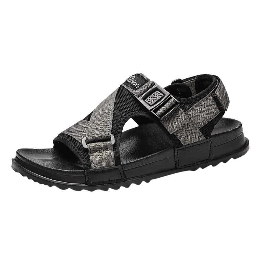 Mode Unisexe Sandales de Plage Gladiateur Chaussures Casual Flip Flops Pantoufles Grande Taille