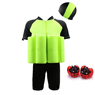 Kids Swim Suit Toddler Float Swimwear with Cap and Armband Sun Protection : Sports & Outdoors