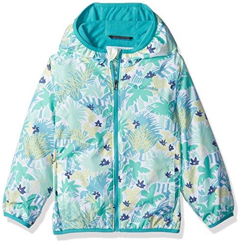 Mini Columbia Toddler - Columbia Boys' Toddler Girls' Mini Pixel Grabber II Wind Jacket, Sea Ice Print 4T