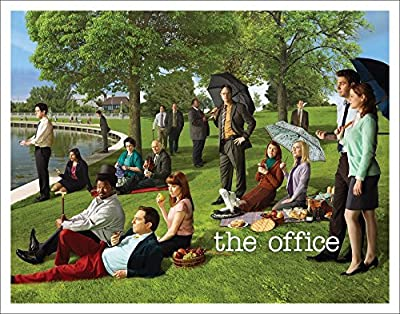 The Office Georges Seurat Painting (Dunder Mifflin) Cast Group Workplace Comedy TV Television Show Poster Print
