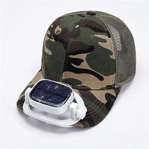 GG-home Sombrero del Ventilador Solar para niños Ventilador al ...