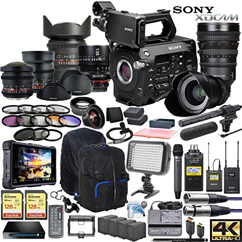 Sony PXW-FS7M2 XDCAM Super 35 Camera & Sony FE PZ 18-110mm OSS G Lens w|Full Range CINE Lens Cinema Bundle