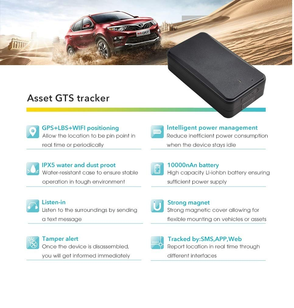 Amazon.com: Asset Tracker GPS Magnet Container Car GPS Tracker with ...