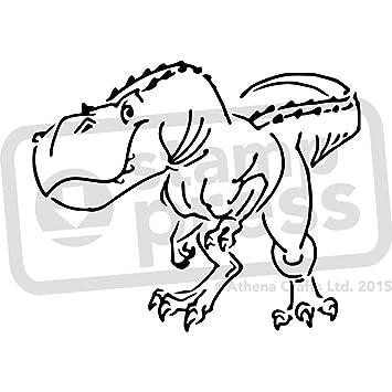 amazon com a4 t rex dinosaur wall stencil template ws00001945