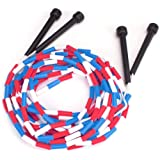 16-Foot Double Dutch Jump Ropes, 2-Pack - Red, White, Blue Skip Rope for Exercise - Sports & Outdoor Activities for Kids…