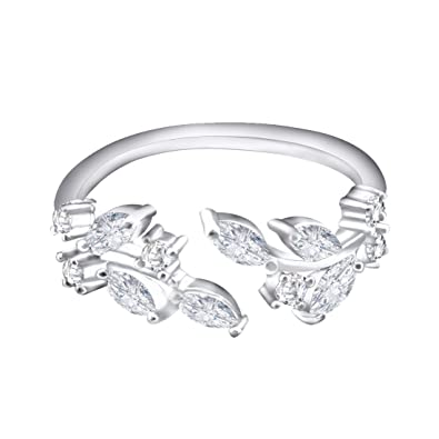 QUKE 925 Sterling Silver 3D Butterfly Adjustable Band Ring Sizes From L 1/2 to R 1/2 Fashion Women Jewellery T2euj