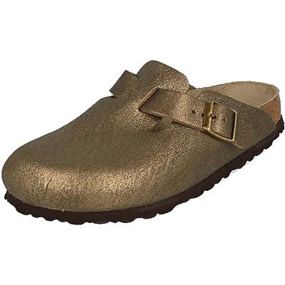 Birkenstock New Women's Boston Clog Washed MTLC Gold 40 N | Mules & Clogs